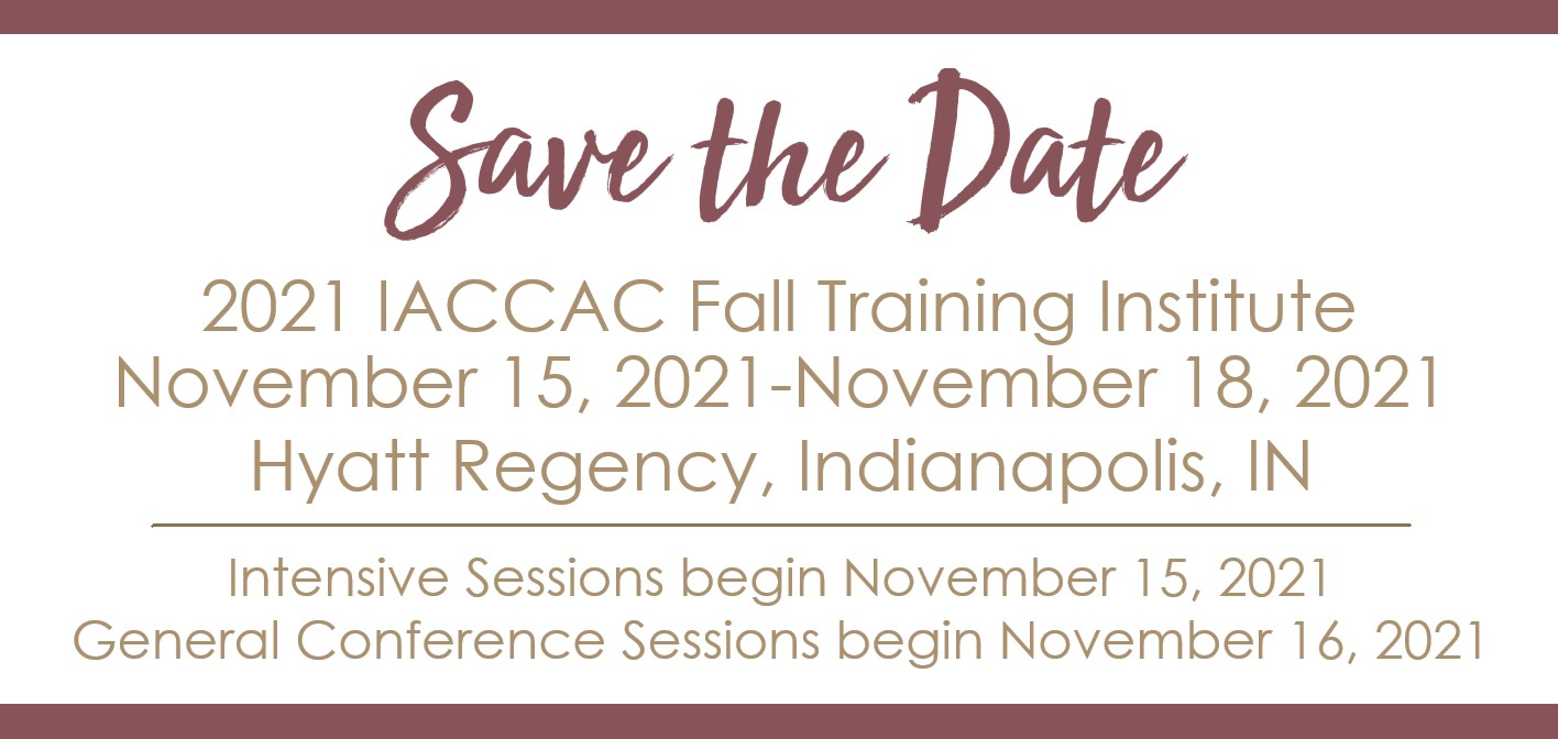 Save the Date - 2021 IACCAC FTI